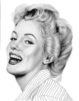 Marilyn Laughing by tainted-orchid