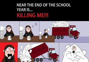 near the end of school is KILLING ME!! by cyngawolf