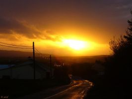 Sunset in Clare by serel