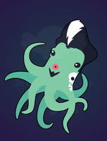 Rockabilly Octopus by pai-thagoras