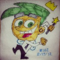 Napkin Art 102 - Floaty Crowns - Fairly OddParents by PeterParkerPA
