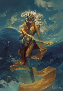 Dumah, Angel of Dreams by PeteMohrbacher