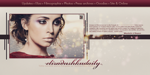 Layout Eliza Dushku Daily 1 by MissKettyDesigns