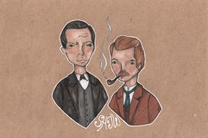 Holmes and Watson by Endofmarch