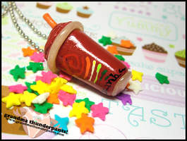 Jamba Juice Necklace by GrandmaThunderpants