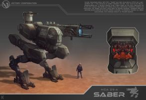 Saber battle mech by Nemanja-S