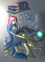 Batgirl in the Batcloset by jdcunard