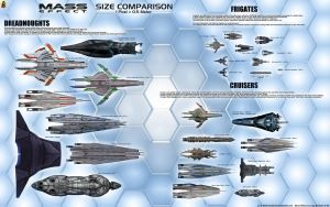 Mass Effect Medium Size Starship Chart by Euderion