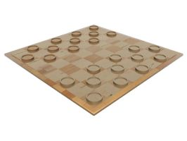 Simple Wood Checkers Set 1 by HopelessSoul13