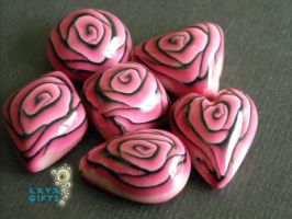 6 Puffy Handmade Polymer Clay by CakeToppers
