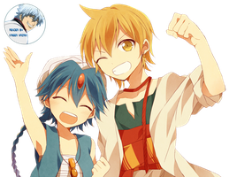 Magi - Alibaba and Aladdin render by KaiserNazrin