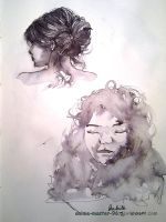 Sketchbook - Ink and Wash - People - 4 by anime-master-96