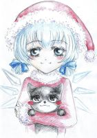 Cirno and Mechika Christmas ^^ by TsunSebby