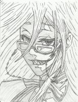 Black Butler Grell's Face by KristenCSummerlin