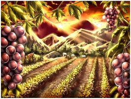Commission : Vineyard by emperpep
