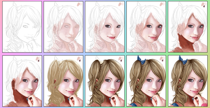 WIP: Lucy Speedpaint by Alina-chan