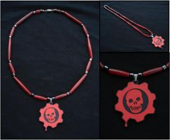 Gears of War Crimson Omen Necklace by RebelATS