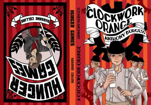 Hunger Games / A Clockwork Orange by Josephine-LeClaire