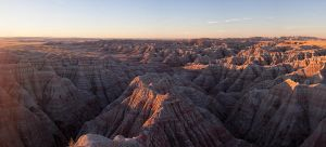 Badlands Panorama by dkwynia