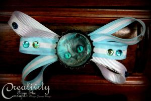Cheshire Cat Crazy Bow by CreativityFTCorrupt