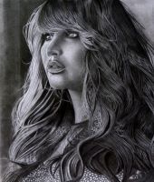Jennifer Lawrence Drawing by Istharxiii