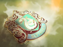 Slytherin Pin by RedSilence33