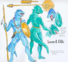 monster manual - lizard folk by Pachycrocuta