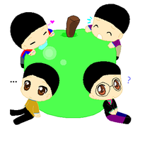 Lil' Beatles: Giant Apple :3 by Kitty-the-Waterbaby