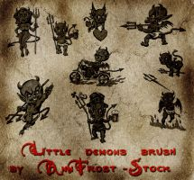 Little demons brush set by AnnFrost-stock
