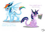 Dragon Ponies Set 1 by Blood-Asp0123