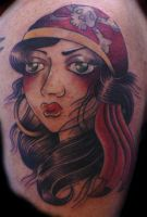 Pirate Girl Tattoo by Hopeandglorytattoo