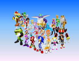 Sonic the Fighters, Heroes and Riders by 9029561