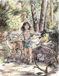 Girl in the Woods by ScottRobertson
