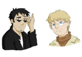 Good Omens Doodles by Johnny-Wolf
