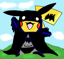 Pikachu gone Batty by Gabriel-loki