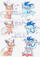 Vaporeon Wants to be a Mermaid by kitkat506