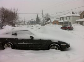 My Car And Front Yard by Deena-Lee-Sauve