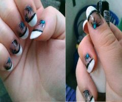 Teardrop nails by Lostrissy