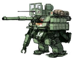 M1 Abrams Tank style Powered exoskeleton Ver.2 by QU-RO-QURO
