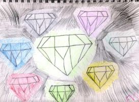 The Master Emerald And The Chaos Emeralds by emerswell