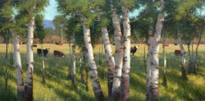 Sharon Calahan -'June Pasture' by OilPaintersofAmerica