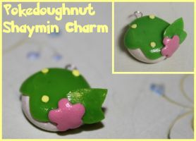 Shaymin Pokedoughnut Charm by picklelicker129