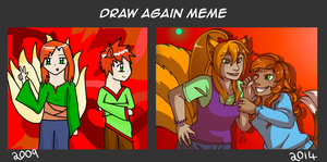 Draw Again Meme by ColacatintheHat