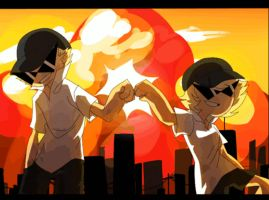 girl dirk and dirk bro fist by xXAlex-your-GodXx