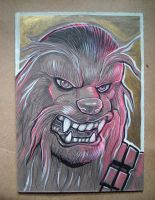 Chewbacca ink drawing by missmonster