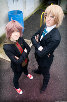 Justice has been served - Naegi and Togami by DarkAndrew89