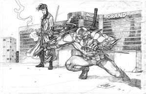 Aceblade And Gambit Pinup by JASONS21