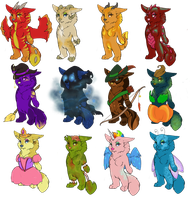 Halloween Adopts by ElysianImagery