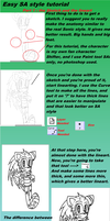 SA style tutorial : Part 1-Sketch and Lineart by Alichat