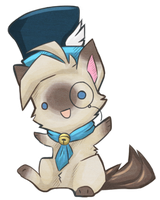 Chibi KatInATopHat by crystalicethorn
